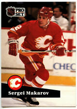 Sergei Makarov #39 Calagary Flames Pro Set 1991-2 Ice Hockey Card (C414B)
