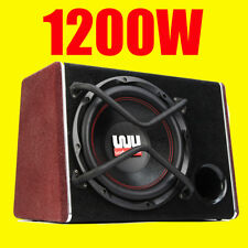 12 Inch 1200W Car Active Audio Subwoofer Powered Amplifer Enclosure Speaker