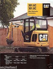 Equipment Brochure - Caterpillar - 301.6C - 301.8C Mini Excavator - 2006 (EB188)