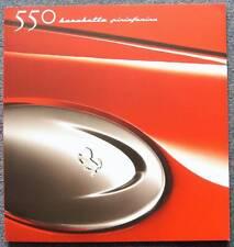 FERRARI 550 BARCHETTA PININFARINA Car Brochure #1616/00