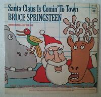 "Bruce Springsteen Santa Claus Is Comin' Zu Town Single 7 "" USA Promo"