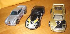 3 Hot Wheels cars Centomila Mattel Malaysia 1988, 1975 Corvette 1987 Porsche 959