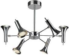 TP24 5046 Maryland 6 x 2.5 W del pivotant Tête Lumière Plafond Chrome