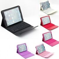 Apple iPad Air 1st 2nd Gen Wireless Bluetooth Keyboard Leather Stand Case Cover