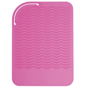 OXO Good Grips Heat Resistant Silicone Travel Mat for Curling or Flat Irons Pink