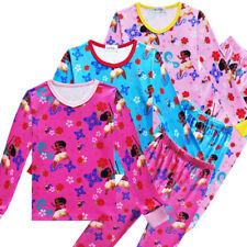 Moana Kids Girls Fall Fashion T-shirts Tops Pants Suit Sleepwear Pajama Set