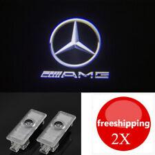 2x HD LED AMG Logo Door Light Projector Emblem HD For Mercedes-Benz CLS CLA C E