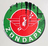 2x vintage Aufkleber Zündapp grün Moped Oldschool Aufkleber / Stickern Mofa