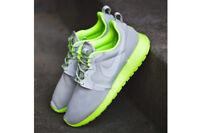 ⭐ £75 Nike Roshe Run 8 UK Grey Lime womens One Girls Running Free Gym Trainer