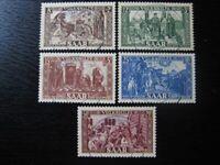 SAAR SAARLAND Mi. #299-303 scarce used stamp set! CV $455.00