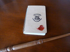 Hogwarts Note Book & Wooden Magic Wand,List of Spells. Harry Potter gift