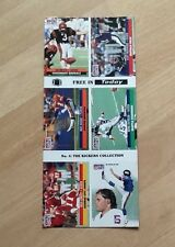 NFL Pro Set cards uncut 1991 'No.4 The Kickers Collection'