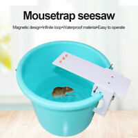 Non-toxic Mice Rat Bait Catcher Seesaw Drowning Wooden Mouse Rodent Reusable