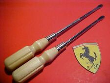 Ferrari 275 Tool Kit Screwdriver Flathead Reproduction PAIR SCREWDRIVERS NEW