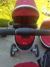 Silver cross Surf 2  Pram  Includes Carry Cot And Pushchair   Chilli Red