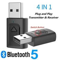 4-in-1 USB Bluetooth Adapter Transmitter & Receiver For Computer 5.0 Audio K9E8