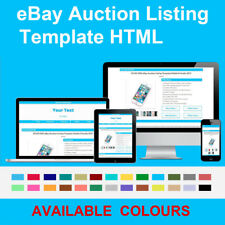 Blue eBay Auction Listing Template Responsive Photo Gallery 2019 HTML HTTPS