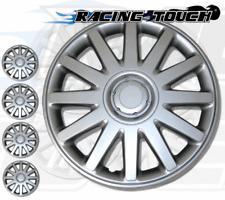 "Metallic Silver 4pcs Set #610 15"" Inches Hubcaps Hub Cap Wheel Cover Rim Skin"