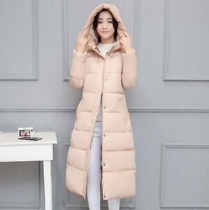 Women Long Cotton Filling Warm Overcoat Hooded Thicken Warm Winter Outwear Coats