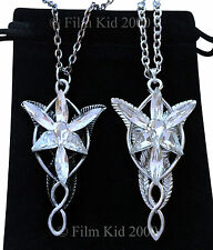 VINTAGE Arwen Evenstar Necklace SET LOTR Lord Of The Rings Hobbit Antique AGED