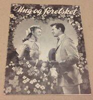 """""""On Moonlight Bay"""" Doris Day MacRae Old 1951 Danish Original Vtg Movie Program"""