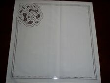 LACE TABLE NAPKIN WHITE FLORAL HOME DECOR ACCENT 17 X 17 WTNF903