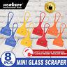 8pc Mini Paint Glass Scraper Window Blade Small Razor Single Edge safety cap