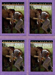 Four (4) card lot of 1994 Triple Play Nicknames #7 Mark McGwire - Athletics