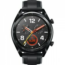 Huawei Watch GT FTN-B19 Black Stainless Steel with Silicone Strap - Black