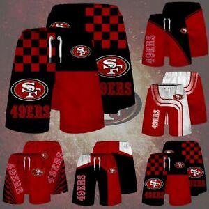 San Francisco 49ers Men Football Beach Shorts Summer Casual Quick Dry Swim Trunk