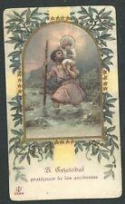 Holy card antique de San Cristobal santino image pieuse estampa