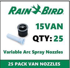 25 Rain Bird 15VAN 15' 0-360° Adjustable Variable Arc Spray Sprinkler Nozzles