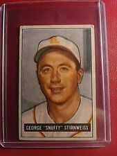 """1951 Bowman #21 George """"Snuffy"""" Stirnweiss Indians VG (no creases)"""