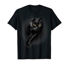 Black Cat Yellow Eyes T-Shirt Cats Tee Shirt Gifts S-5XL