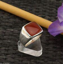 Echtschmuck aus Sterlingsilber mit Karneol-Ringe