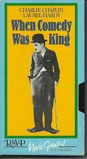 WHEN COMEDY WAS KING Charlie Chaplin VHS Laurel and Hardy