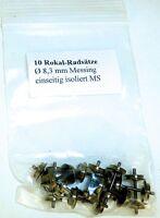 10x Rokal Engrenages 8,3mm Diamètre Laiton Isolé sur un Côté Ms 1:120 Tt Å