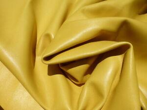 Lambskin sheepskin lamb sheep leather hide Sunflower Yellow glove soft 1.5 oz