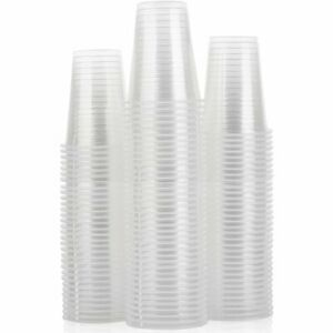 1000 Clear Plastic Cups 7oz for Water Coolers / Vending Cups Sealed