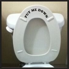 Put Me Down sticker potty training toilet Bathroom Decal Funny vinyl Decal Wall