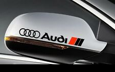 2x Audi Side Mirror Rear View Decals stickers A1 A3 A4 A5 A6 A7 A8 TT RS Q5 Blk