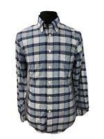 Brooks Brothers Mens Button Down Shirt Regent Original Polo Plaid Blue Sz Medium