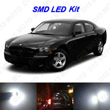 11 x White LED interior Bulbs + Reverse + Tag Lights for 2006-2010 Dodge Charger