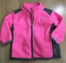 C9 By Champion Fleece Full Zip Jacket Baby Toddler Size 12 Months Pink And Gray