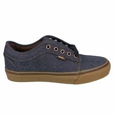 New VANS Chukka Low Pro (Oxford) Skate Shoe Black Gum Low Top UltraCush