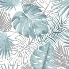 DUTCH WALLCOVERINGS Tapete Monstera Blätter Blau Vlies Fototapete Wandbilder