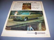 VINTAGE..1967 CHRYSLER NEW YORKER (440TNT)..1-PAGE COLOR  ORIGINAL SALES AD..(1)