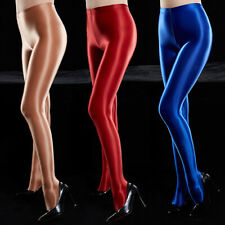 Womens Satin Glossy Opaque Tights Nylon Dancewear Stockings Sexy Shiny Pantyhose