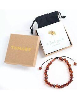 Temgee Baltic Amber Bracelet for Women and Men - Baltic Amber Bracelet Adjustabl