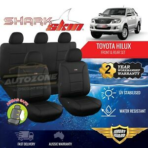 Neoprene Seat Covers for Toyota Hilux Dual Cab SR5 SR 2ROWs 04/2005 -06/2015